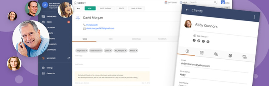 WordPress crm vCita plugin.