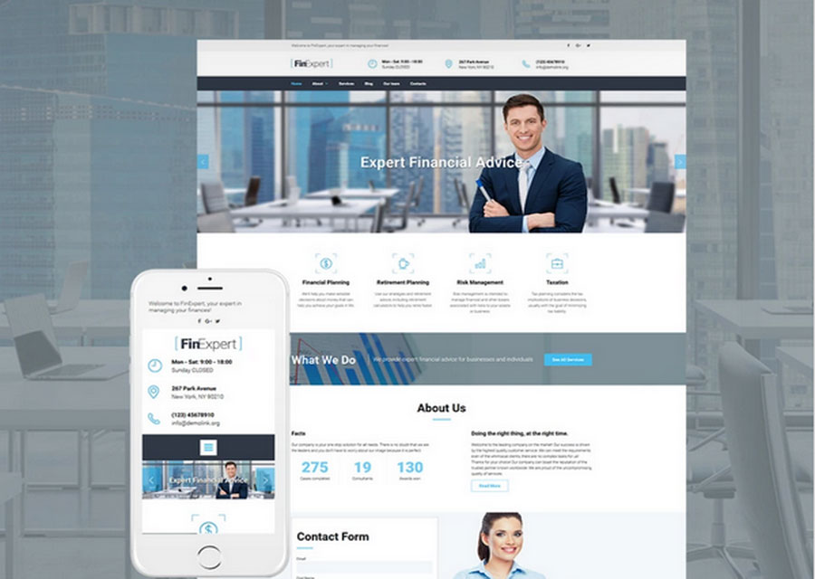 Website builder template 6
