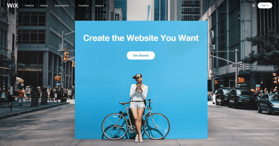 The Wix website.