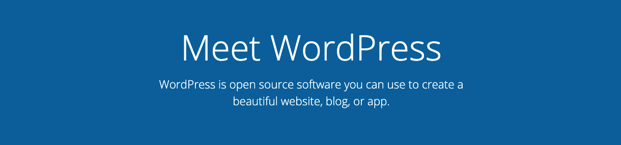 wordpress CMS slogan