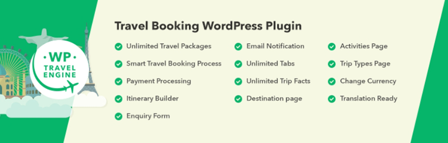 Le plugin WP Travel Engine.