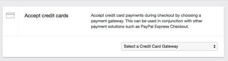 Configuring your Shopify payment settings.