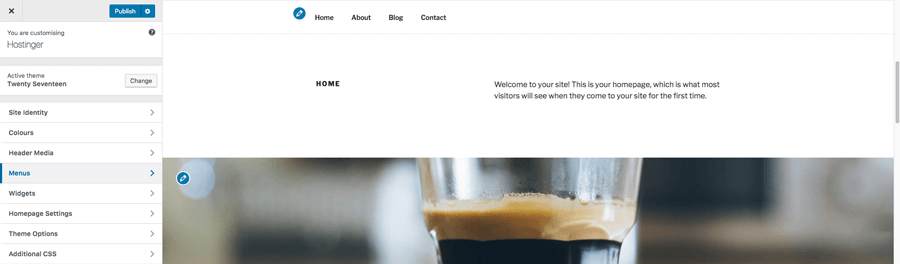 Customizing a WordPress theme