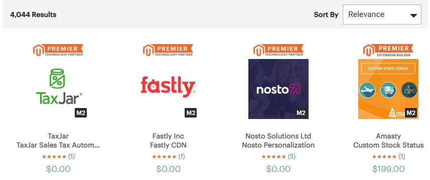 The Magento app marketplace.