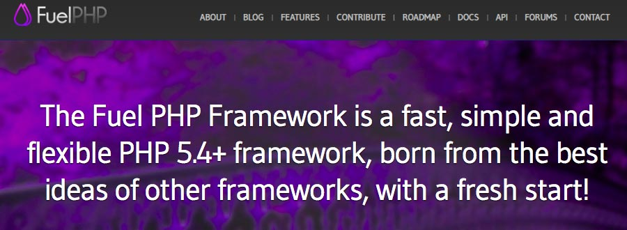 FuelPHP framework homepage
