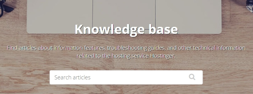 The Hostinger knowledge base.