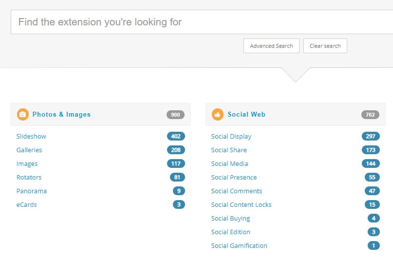 The Joomla extensions directory.