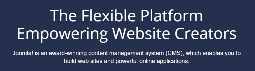 The Joomla homepage.