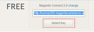 Select Extension Key