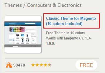 Magento select theme
