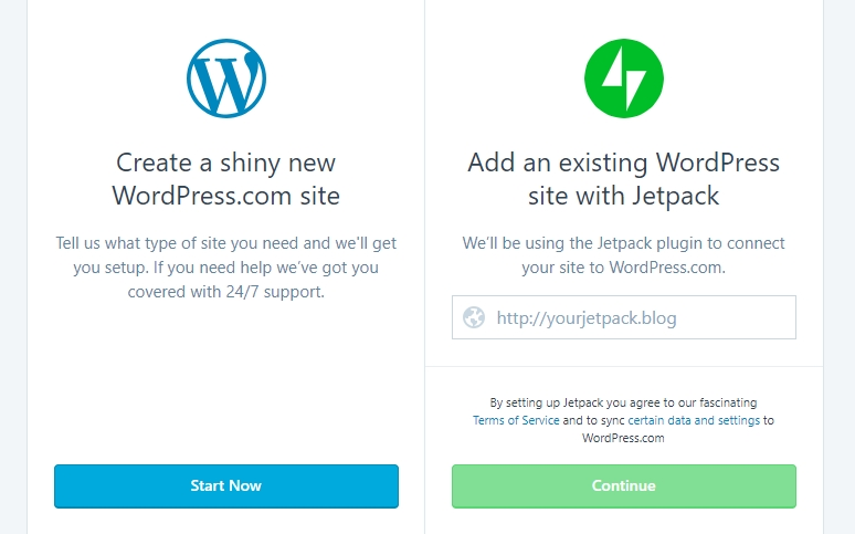 Comparing the process of starting a blog with WordPress.org vs WordPress.com.