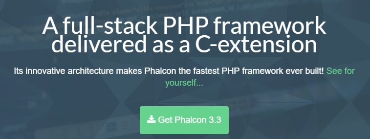 The Phalcon homepage.