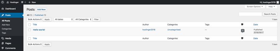 Crear y editar publicaciones en el panel de WordPress