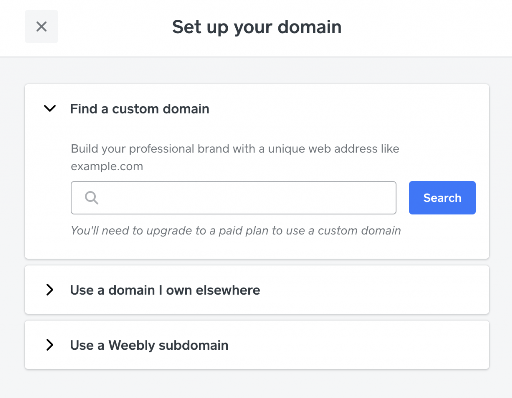 set up your domain on wee