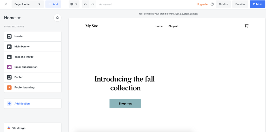 edit your features on the weebly online store editor