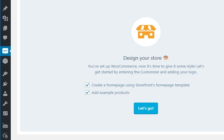 The new WooCommerce tab.