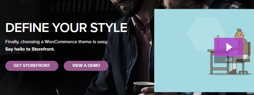 The Storefront WooCommerce theme.