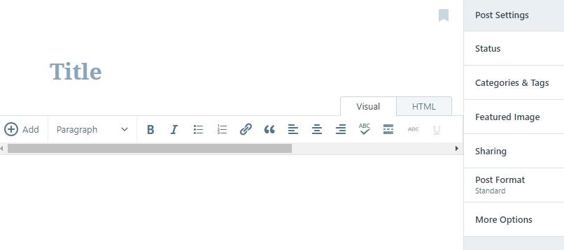 Writing a new post on WordPress.com.
