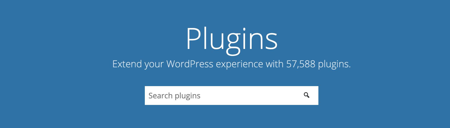The WordPress plugin repository