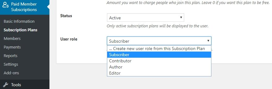 Configuring your plan's default user role.