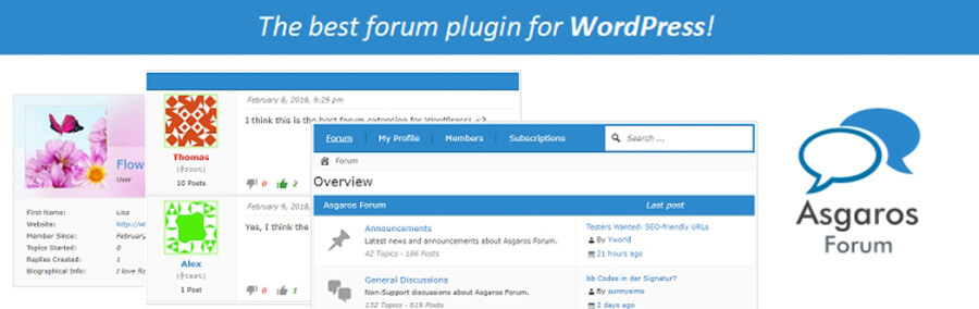 Plugin Asgaros Forum.