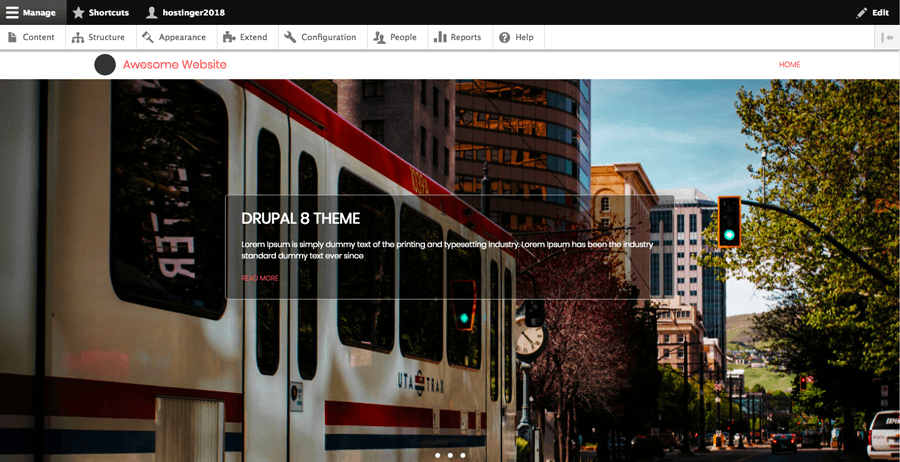 An example of a free theme for Drupal 8