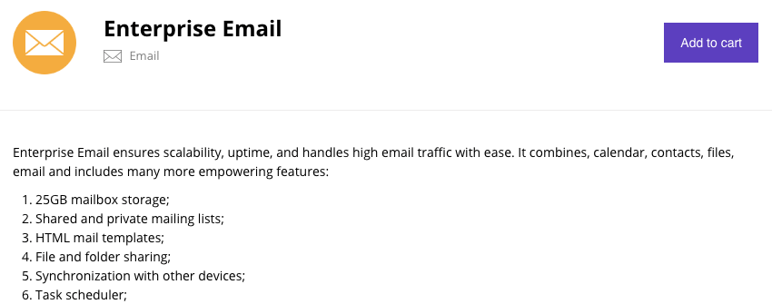 Enterprise email description