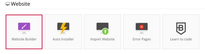 Herramienta de creación de sitios web de hostinger