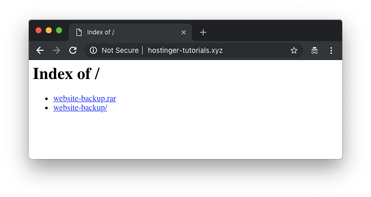 website bị upload vào thư mục con