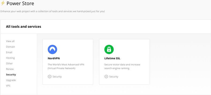 Buying a lifetime SSL/TLS certificate from Hostinger's Power Store