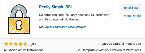 Really Simple SSL plugin