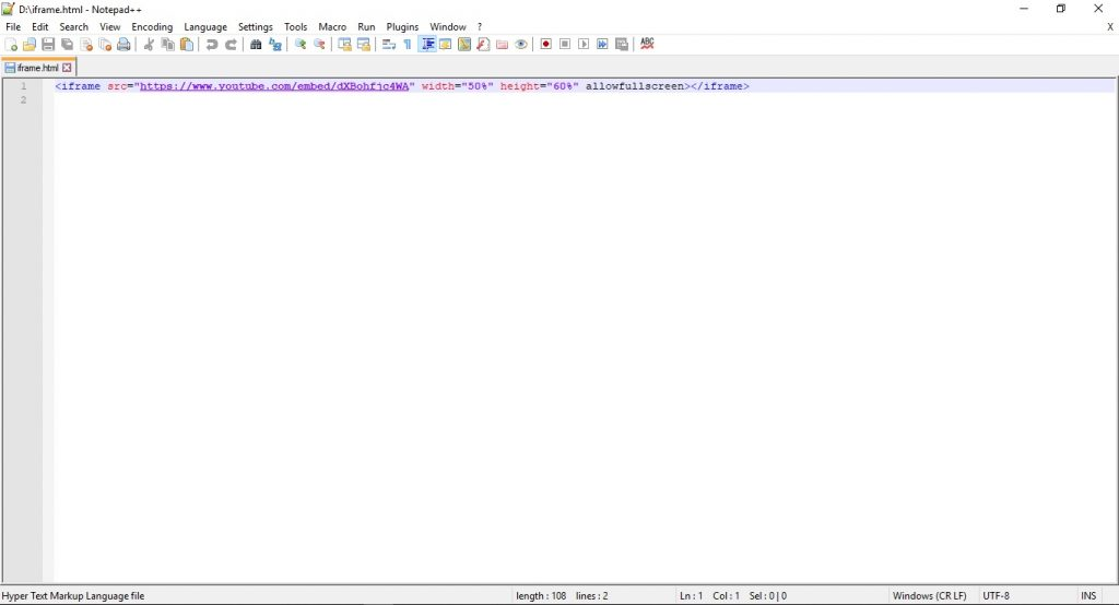 HTML editor Notepad++