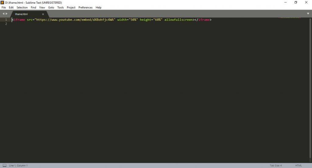 Sublime Text HTML Editor