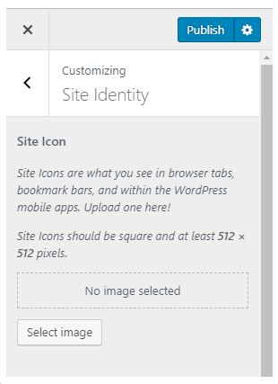 WordPress customizer how to upload a favicon