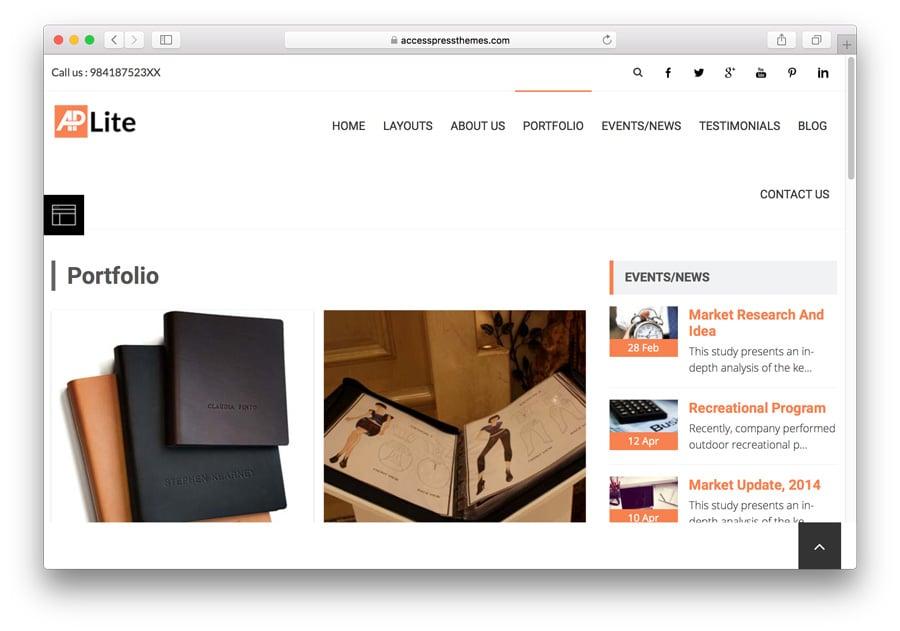AccessPress Lite Portfolio Page