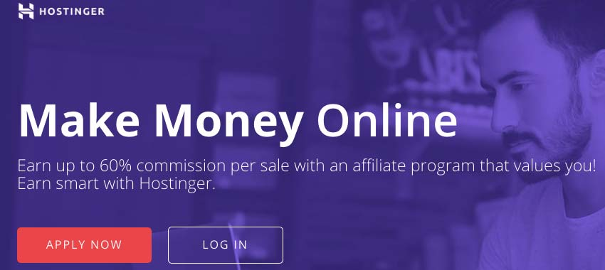Hostinger's affiliate program page