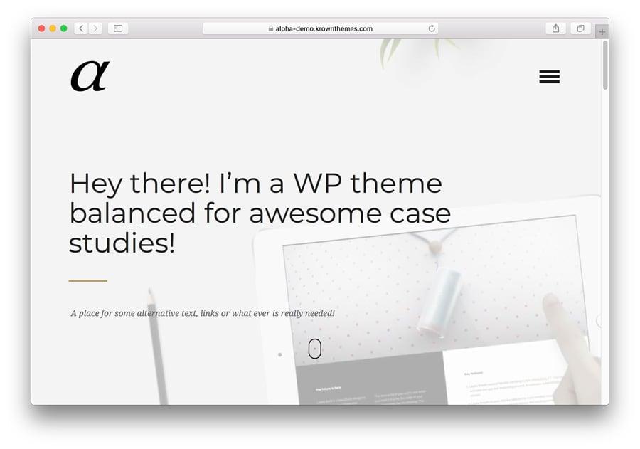 Alpha Premium WordPress Theme
