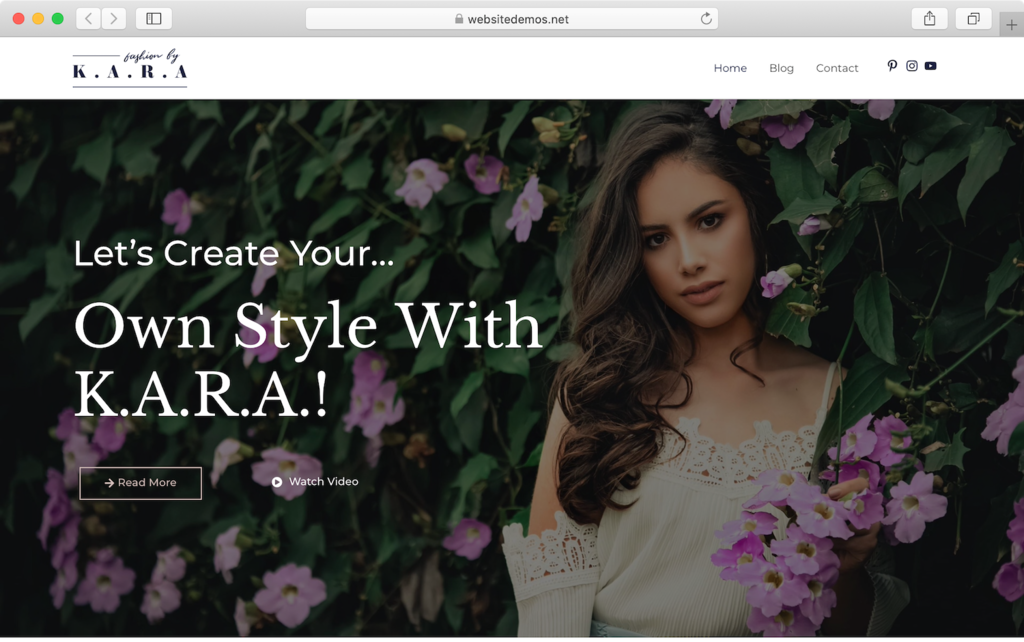 Astra WordPress blog theme demo.
