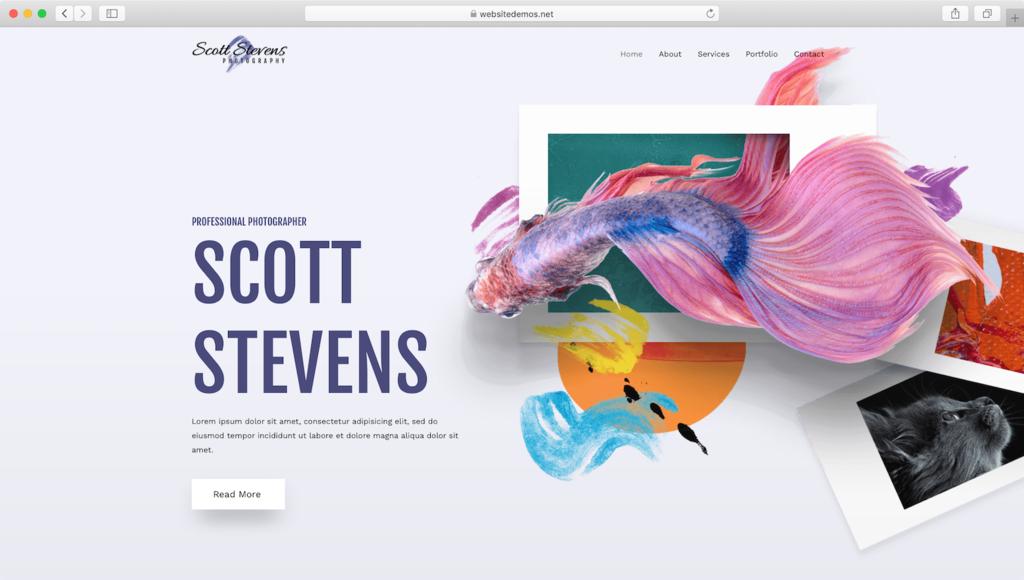 Astra portfolio website demo.