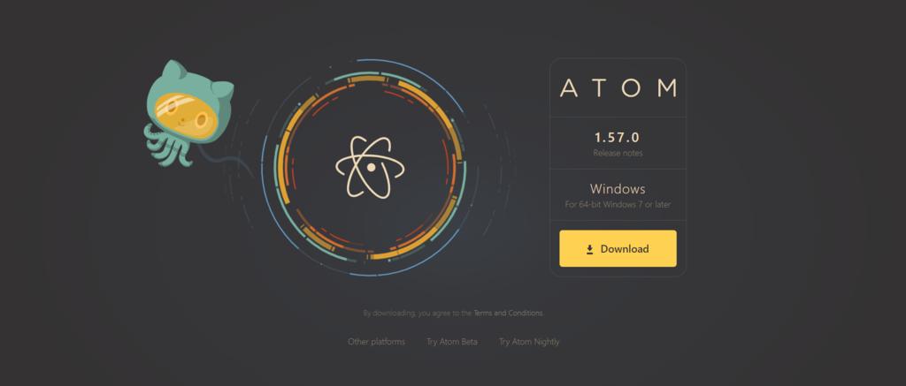 Screenshot of the Atom editor's banner