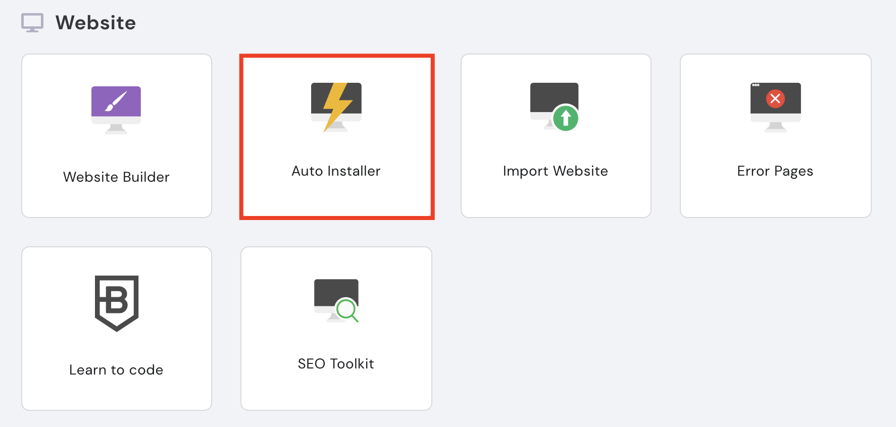 auto installer for platforms on hostingers hpanel