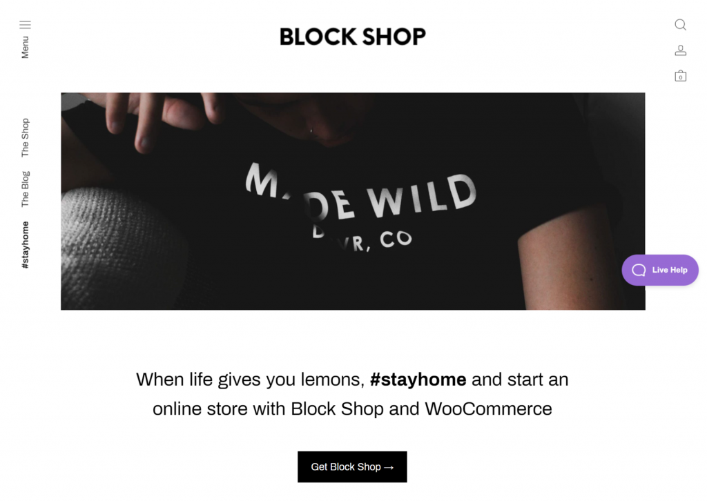 Block Shop WordPress eCommerce Theme
