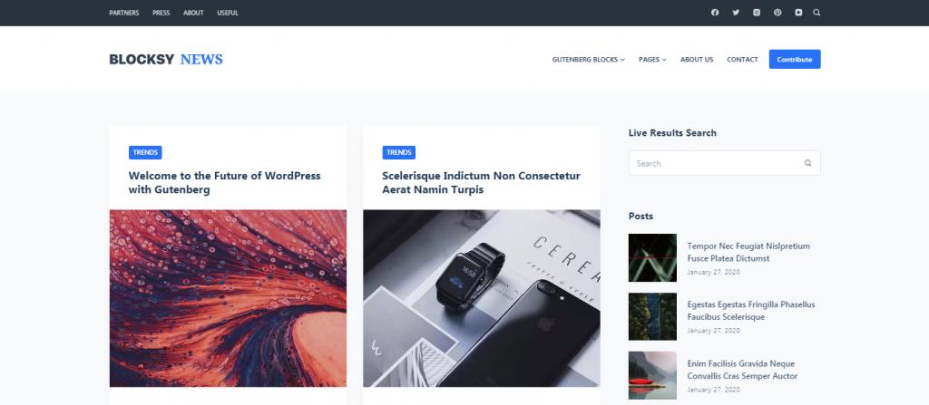 Blocksy Free WordPress Blog Theme