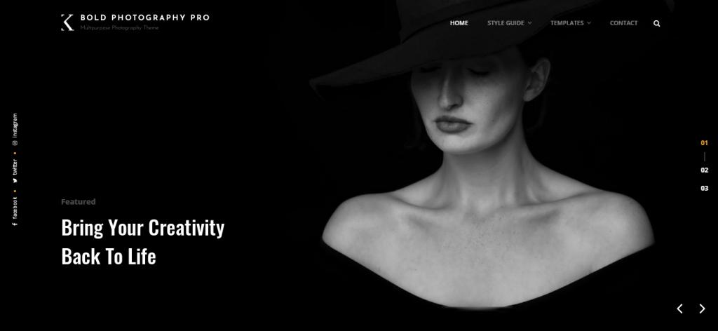 Bold Photography Free WordPress Blog Theme