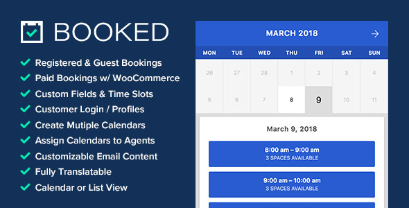 Booked Paid WordPress booking plugin