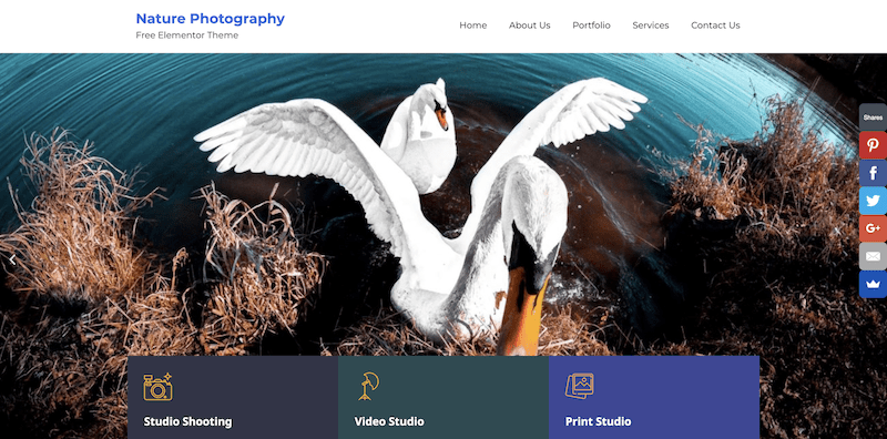 bootstrap photography theme