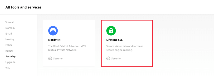 Getting a lifetime SSL in power store