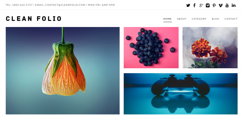 Clean Folio WordPress Portfolio Theme