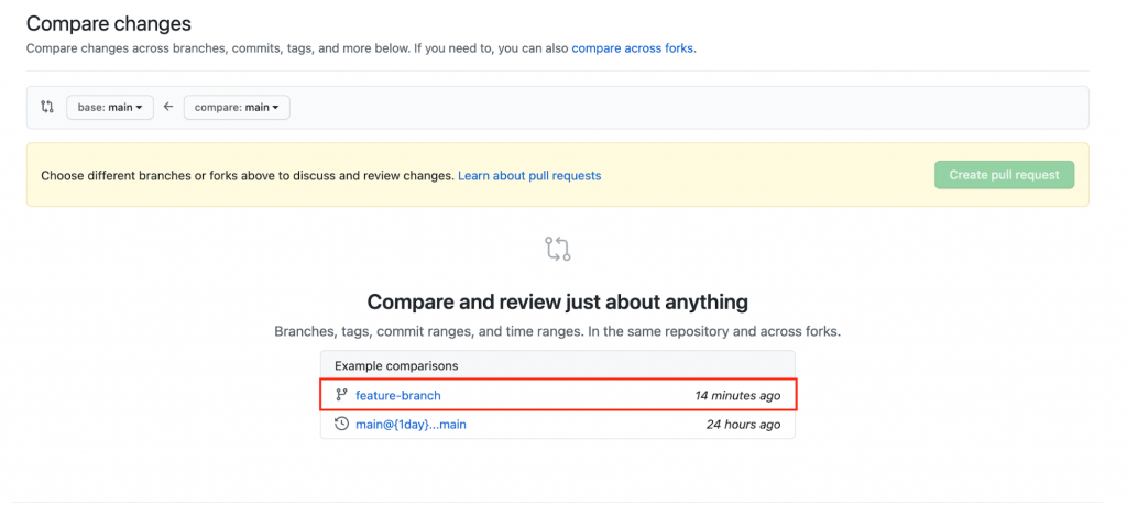 Feature Branch in GitHub