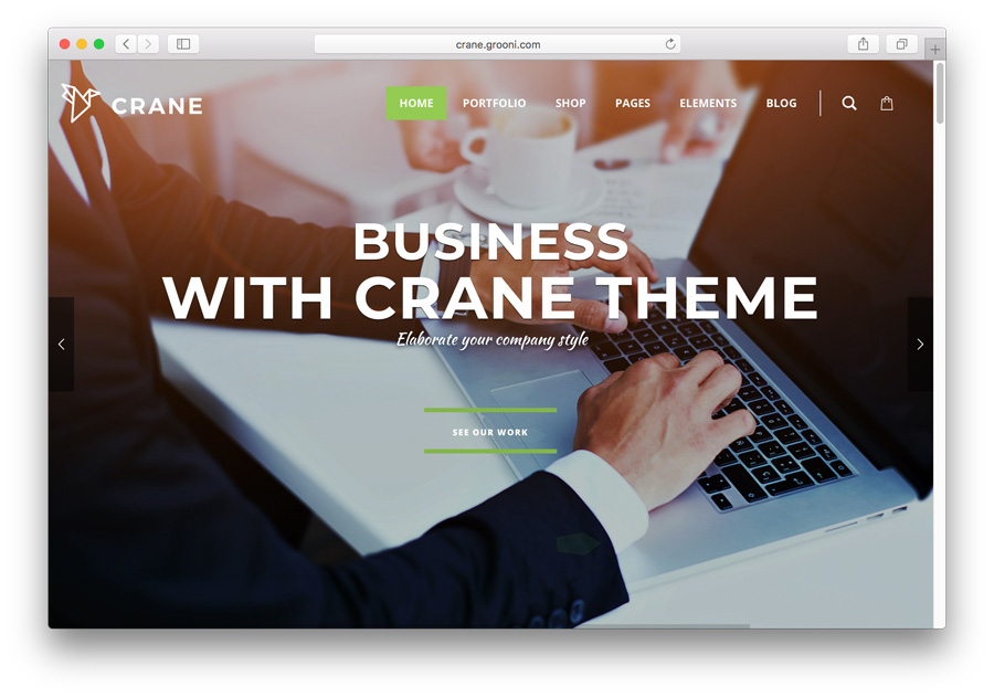 Crane Premium WordPress Theme